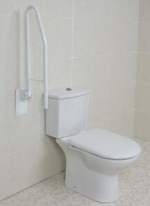 Toilet Bathroom Safety Rail Disability Support Aid Handle Grab Arm Bar Drop Down