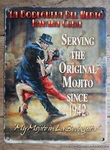 VINTAGE STYLE HAVANA CLUB SERVING THE ORIGINAL MOJITO DECORATIVE METAL WALL SIGN