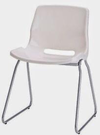 2x urban ikea chairs white - Good condition £20