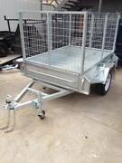 7x5 heavy duty galvanised single axle box 3ft 900 mm cage trailer Thomastown Whittlesea Area Preview
