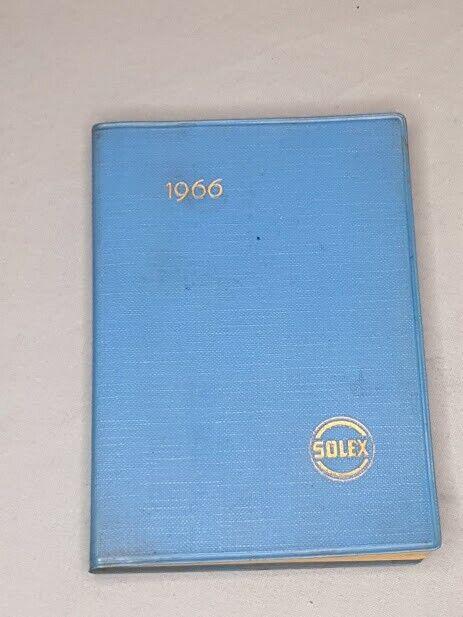 1966 SOLEX Carburetor Factory Sales Rep Calendar / Reference Book German RARE
