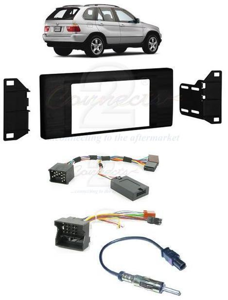BMW X5 E53 00-06 COMPLETE DOUBLE DIN STEREO FITTING KIT