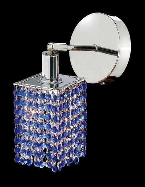 Elegant  Chandelier Wall Sconce SAPPHIRE Cut Crystals ~ Chro