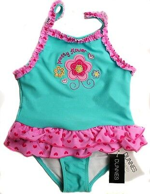 NWT Baby Girls Swimsuit W/ Build In Nappy Size 0-3 3-6 6-9 9