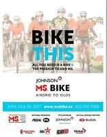 Volunteer for our Johnson MS Bike Tour - Airdrie to Olds