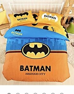 Batman double duvet cover and lamp