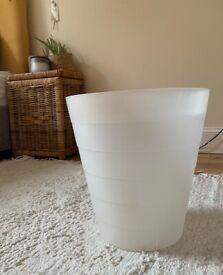 Medium white bin for room or office