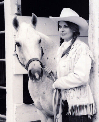 White Felt Hat - Dyna Felt Stetson type Cowboy Hat, White Wool, Women's small, in box