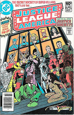 Justice League of America Comic Book #195, DC Comics 1981 NEAR MINT