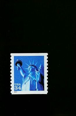 2001 34C STATUE OF LIBERTY, COIL SCOTT 3476 MINT F/VF NH