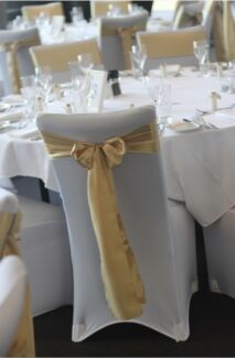 $2.50 chair cover & sash hire- bulk orders welcome