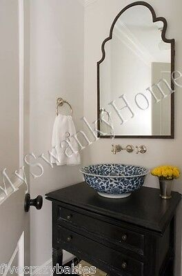 """Gorgeous Extra Large 41"""" SHAPED ARCH Wall Mirror Curved Mantle Vanity Horchow"""