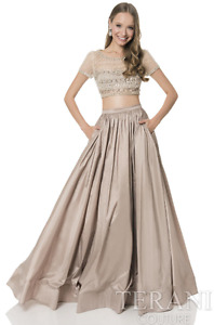 2-PIECE STUNNING GOWN (Beaded top & full-length bottom)