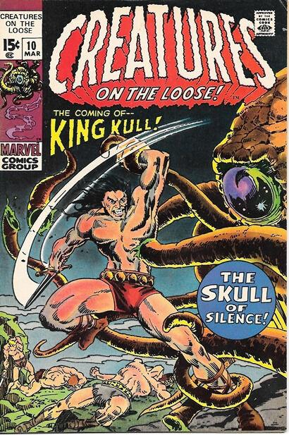 Creatures On The Loose Comic Book #10, Marvel Comics 1971 VERY FINE