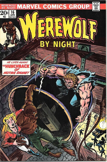Werewolf By Night Comic Book #16, Marvel Comics 1974 FINE+