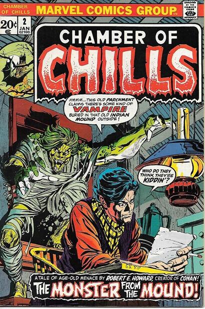 Chamber of Chills Comic Book #2, Marvel Comics 1973 VERY FINE+