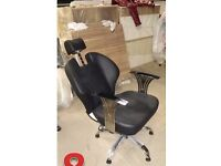 BLACK THREADING & BARBER CHAIR FOR SALE! Hairdresser / Beauty / Make-up / Salon / Styling Chair