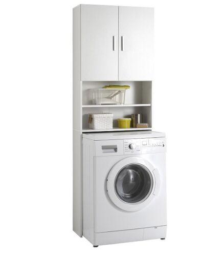 Dettagli su Mobile bagno mobiletto coprilavatrice copri per lavatrice ...