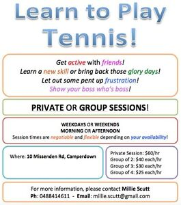 Tennis Lessons Camperdown Inner Sydney Preview
