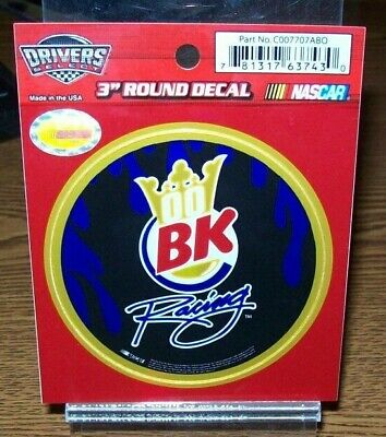 DAVID REUTIMANN #00 BK RACING DRIVERS SELECT 3 INCH ROUND DECAL ()