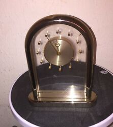 Seiko Quartz Gold Toned Mantle/Desk Clock