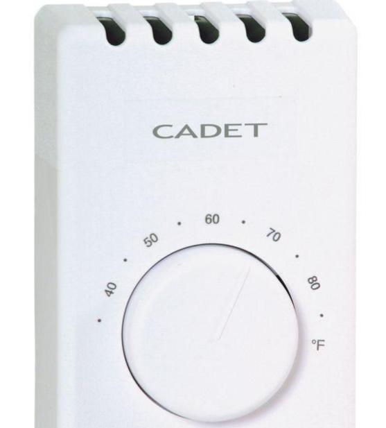Cadet #08121 White Single Pole Thermostat