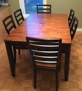 Ashley Table Bois Wood Dining Ikea 6 Chairs Chaises Livraison