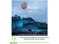 Edinburgh Military Tattoo Tickets -- Read the ad description before replying!!