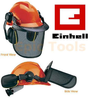 NEW EINHELL Forestry Chainsaw/Strimmer Safety Helmet,Face Visor & Ear Defenders