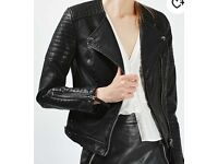 TOPSHOP quilted faux leather jacket