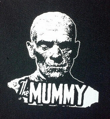 The Mummy - PATCH canvas screen print HORROR - Universal Monsters, Boris Karloff
