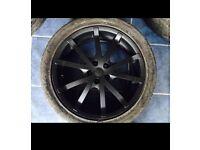 Black alloy wheels for sale!