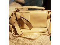 Handbag, cream, brand new