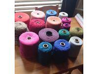 Bulk mixed cones of yarn