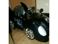 Batmobile electric ride on car