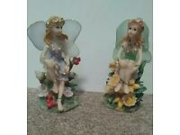 Pair of Fairy Statues