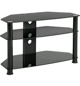 Tv Stand Black Glass Corner