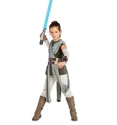 NWT Disney Star Wars The Last Jedi Rey Costume Halloween Sz 7/8, 9/10