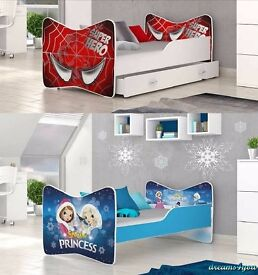 Bed for kid toddler girl boy 140 160 180x80 cm mattress storage THE BEST QUALITY