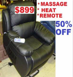 Electric Lift Chair Remote Control All Position Massage & Heat