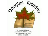 Science private tuition from Douglas Tutoring - Dr. Corsten Douglas. Bio, chem, phys, KS2/3 GCSE +