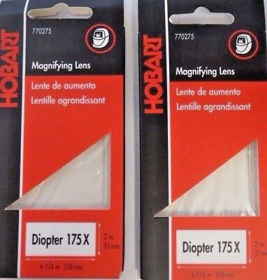 Hobart 770275 Magnifying Helmet Lens 175x 2 Packs