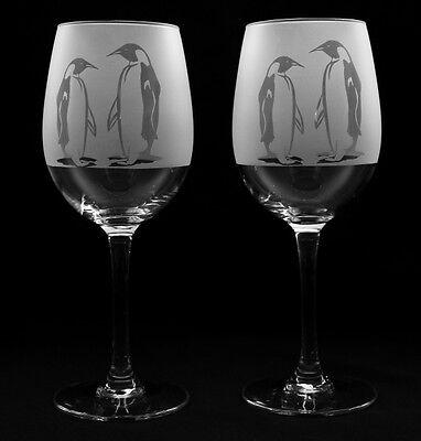 Penguin gift Wine Glasses Boxed