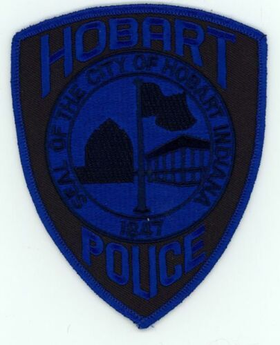 INDIANA IN HOBART POLICE SUBDUED NEW SHOULDER PATCH SHERIFF