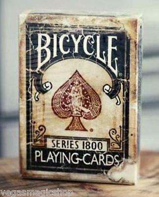 1800 Vintage Blue Deck Bicycle Playing Cards Poker Size USPCC Custom Limited (Vintage Bicycle Playing Cards)