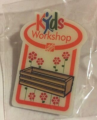 NEW THE HOME DEPOT KIDS WORKSHOP FLOWER PLANTER PIN COLLECTIBLE VERY RARE