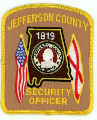 JEFFERSON COUNTY ALABAMA AL SECURITY OFFICER POLICE SHERIFF PATCH