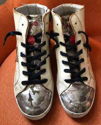 ISHIKAWA HIGH TOP SNEAKERS WITH HIDDEN HEEL - SIZE 41 ITALIAN - SZ 10 1/2 U.S. -