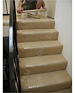 Self adhesive clear carpet roll wood floor protector cover decorating dust sheet ebay - Decorating carpet protector ...