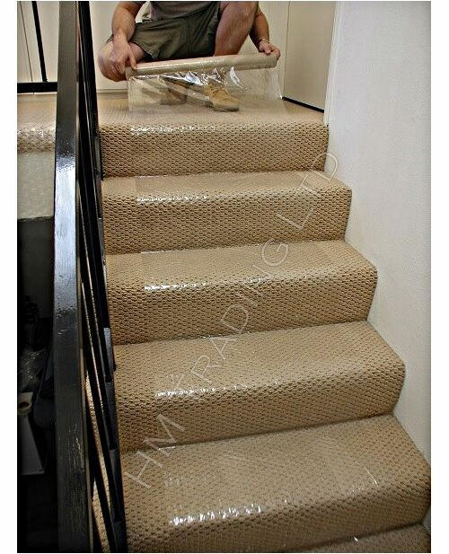 Clear Carpet Floor Protection Self Adhesive Protector Roll